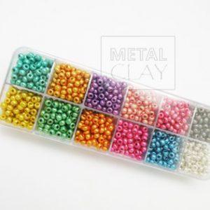 Zestaw koralików kolorowych (metaliczne)