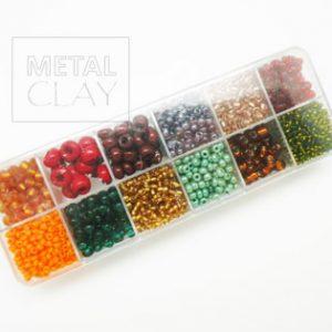Zestaw koralików różnokolorowych