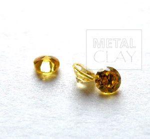 cyrkonia okrągła gold 3mm