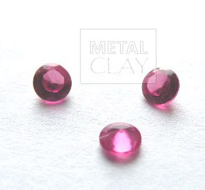 cyrkonia (corund) okrągła rubin 3mm