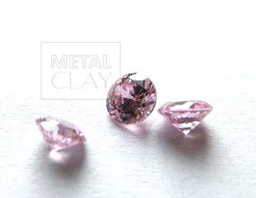cyrkonia okrągła pink 4 mm