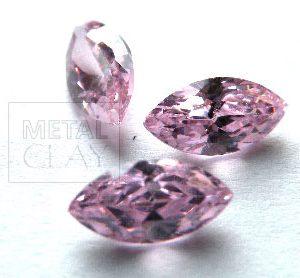 cyrkonia markiza pink 8x4mm