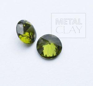 cyrkonia okrągła oliwin 5mm