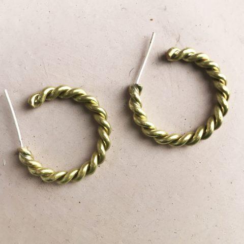 złote obrączki zaprojektowane wtrakcie kursu