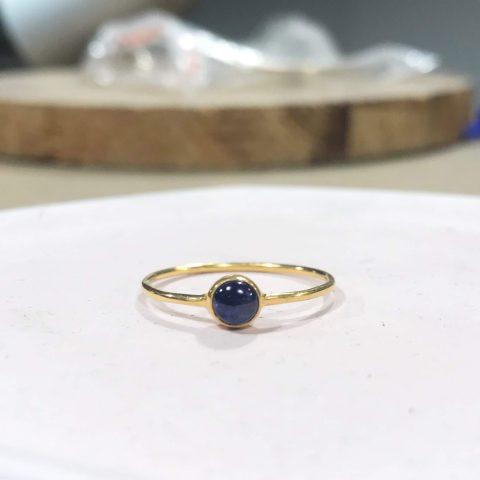 Kursu projektowania biżuterii, 3 semestr, pozłacany pierścionek