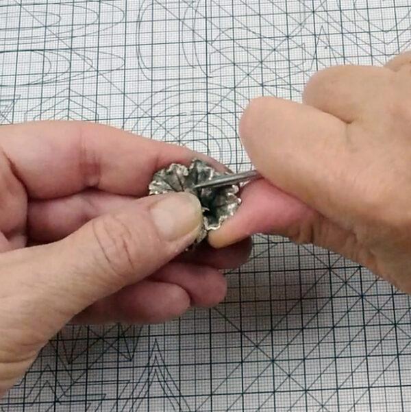 Metal clay online wybłyszczanie krawędzi wyrobu