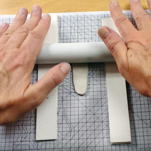 metal clay nauka online przygotowanie materiiału na obrączkę