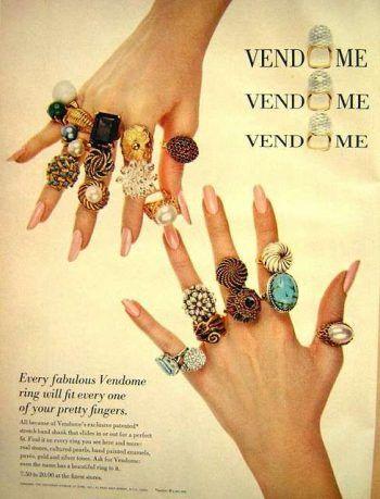 Koktajlowe pierścienie vintage