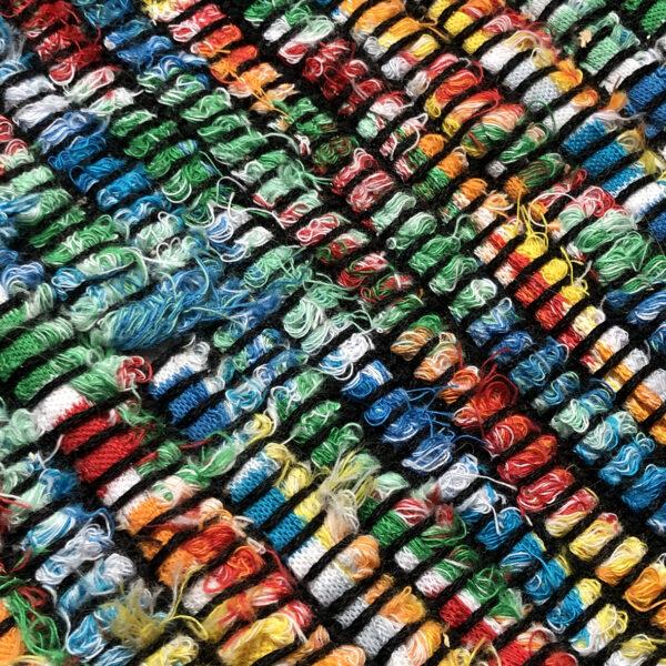 kurs tkania online - splot widziany w powiększeniu